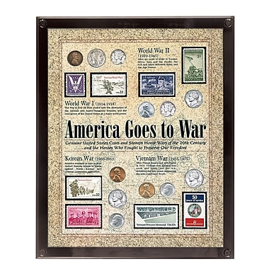 American Coin Treasure America Goes to War Framed Memorabilia