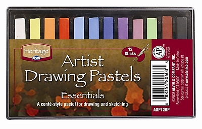 Alvin and Co. Basic Drawing Pastels (Set of 12) WYF078276381794
