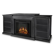 Real Flame Frederick Entertainment Center with Electric Fireplace; Blackwash