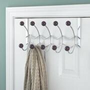 Elegant Home Fashions 5 Hook Over-the-Door Coat Rack; Plum