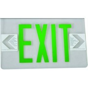 Morris Products Surface Mount Edge Lit Double Sided Face Plate LED Exit Sign w/Green on Clear Panel