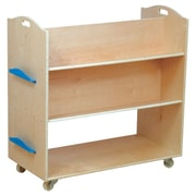 Guidecraft School Library 37.5'' Book Cart