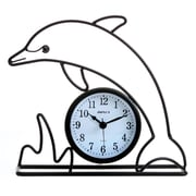 Maples Clock Silhouette Dolphin Table Clock