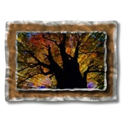 All My Walls 'Brilliant Branches' by Ash Carl Original Painting on Metal Plaque