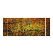 All My Walls 'Two Birds' by Megan Duncanson 7 Piece Original Painting on Metal Plaque Set