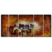 All My Walls 'Sun Tree' by Megan Duncanson 5 Piece Painting Print Plaque Set