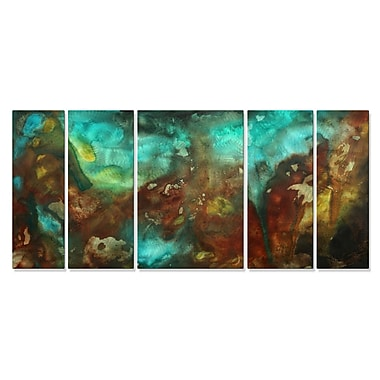 All My Walls 'Lava Flows' by Megan Duncanson 5 Piece Graphic Art Plaque Set