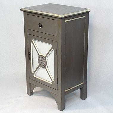 Heather Ann Wooden Cabinet w/ Mirror Insert; Dark Gray