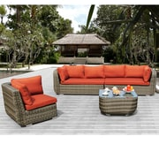 Sirio North America Inc Salinas 4 Piece Deep Seating Group with Cushion