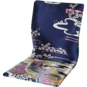 Oriental Furniture Tatami Indigo Geisha Meditation Fabric Lounge Chair