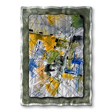 All My Walls 'Building' by Pol Ledent Painting Print Plaque