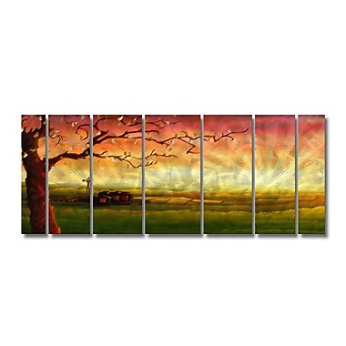 All My Walls 'Tree' by Ash Carl Designs 7 Piece Graphic Art Plaque Set