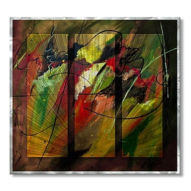 All My Walls 'Contemplating Perseverance' by Ruth Palmer 3 Piece Graphic Art Plaque Set