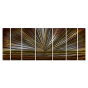 All My Walls On The Horizon by Ash Carl Metal Wall Art; Brown