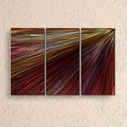 All My Walls In The Light IV by Ash Carl Metal Wall Decor; Red
