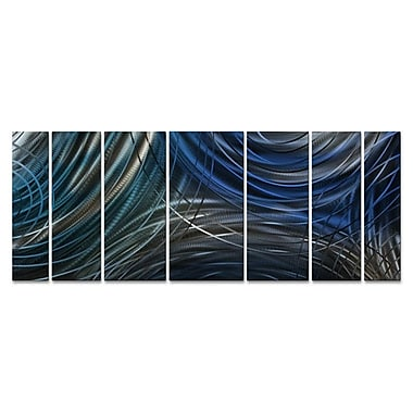 All My Walls Connecting Rings 7 Piece Graphic Art Plaque Set; Blue