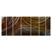 All My Walls Connecting Rings Metal Wall Art; Brown