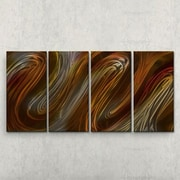 All My Walls Glissade III by Ash Carl Metal Wall Art; Brown