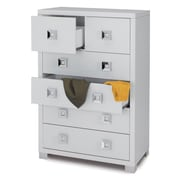 Sarmog Quadrante 6 Drawer Vertical File; Glossy White