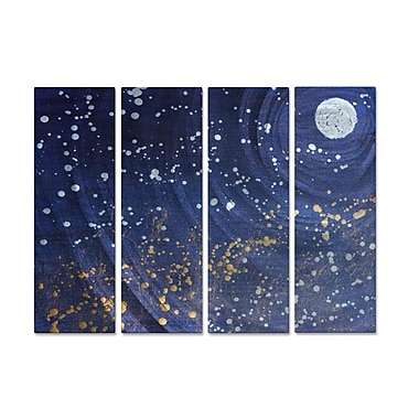 All My Walls 'Starlight 2' by Hilary Winfield 4 Piece Graphic Art Plaque Set