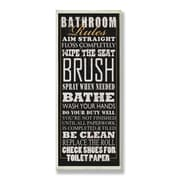 Stupell Industries Bathroom Rules Tall Rectangle Textual Art Wall Plaque