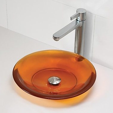 DecoLav Incandescence Round Vessel Bathroom Sink; Magma