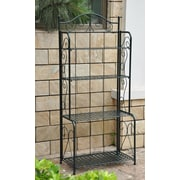 International Caravan Mandalay 4 Tier Indoor/Outdoor Bakers Rack; Vertigris