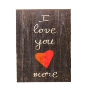 Holly & Martin Swoon Wall Panel ''I Love You More'' Textual Art Plaque