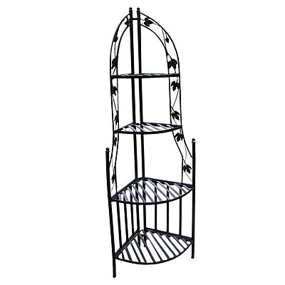 Oakland Living Novelty Plant Stand; Black WYF078276450149