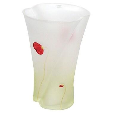 Womar Glass Poppy Flower Series Vase