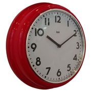 Bai Design 9.8'' School Wall Clock; Red