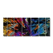 All My Walls 'Holographic' by Ash Carl 7 Piece Original Painting on Metal Plaque Set