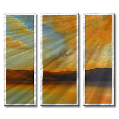 All My Walls 'A Warm Afternoon' by Ash Carl Designs 3 Piece Graphic Art Plaque Set