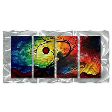 All My Walls 'Rainbow Night' by Megan Duncanson 4 Piece Graphic Art Plaque