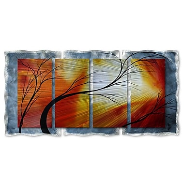 All My Walls 'Old Dirt Road' by Megan Duncanson 4 Piece Graphic Art Plaque