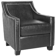 Safavieh Leandro Arm Chair in Antique Black