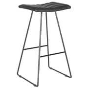 Safavieh Akito 30'' Bar Stool with Cushion (Set of 2); Black