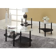 Innovex Crescent Coffee Table Set; Black