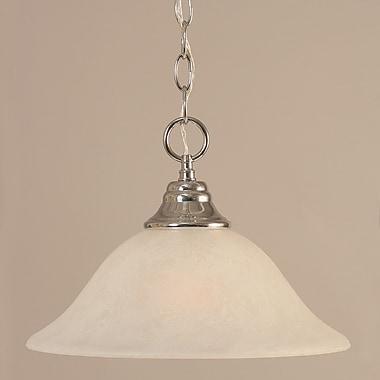 Toltec Lighting 1-Light Downlight Pendant; Chrome