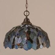 Toltec Lighting 1 Light Downlight Pendant; Dark Granite