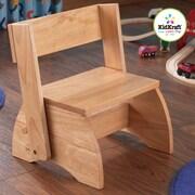 KidKraft 1-Step Manufactured Wood Kid's Flip Step Stool; Natural