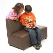 Brand New World Modern Casual Enviro-Child Upholstery Sofa; Chocolate