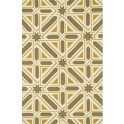 Dann Foley Palm Springs Taupe/Gold Indoor/Outdoor Area Rug; 2'3'' x 3'9''