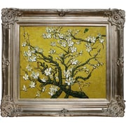 Tori Home Branches Of An Almond Tree In Blossom Van Gogh Framed Original Painting in Yellow