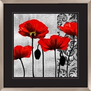PTM Images Ornate Poppie 2 Piece Graphic Art Shadow Box Set