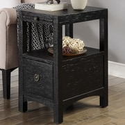 Coast to Coast Imports Carolina Preserves End Table; Manteo Texture Black