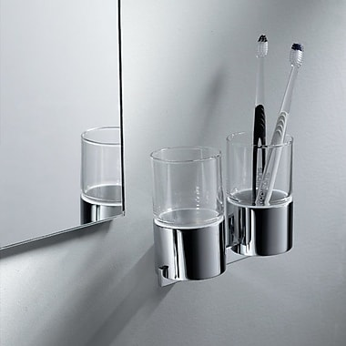 Kraus Aura Wall Mount Double Tumbler and Tumbler Holder