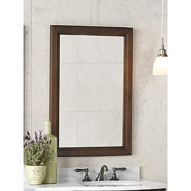 Ronbow Transitional 24'' x 34'' Solid Wood Framed Bathroom Mirror in Caf Walnut