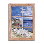 Stupell Industries White Chairs Faux Window Scene Wall Plaque