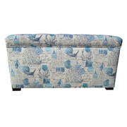 Sole Designs Angela Upholstered Storage Bench; Primary Artic Blue